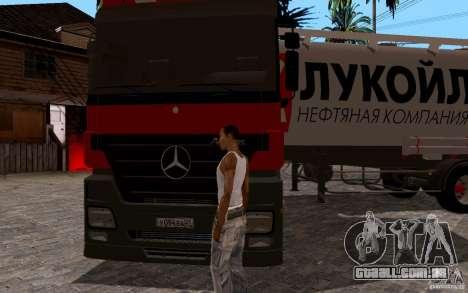 Mercedes-Benz Actros Lukoil para GTA San Andreas vista traseira