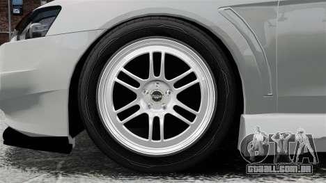 Mitsubishi Lancer Evolution X ToneBee Designs para GTA 4 vista de volta