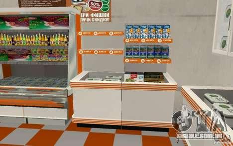 Nova loja Dixie para GTA San Andreas por diante tela
