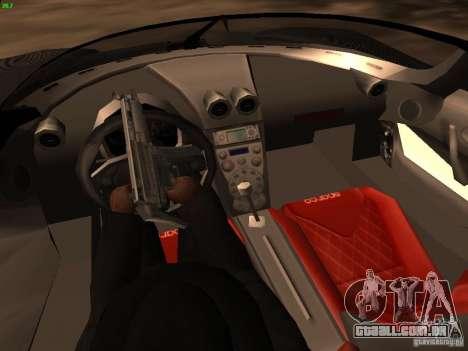 Koenigsegg CCXR Edition para GTA San Andreas vista inferior