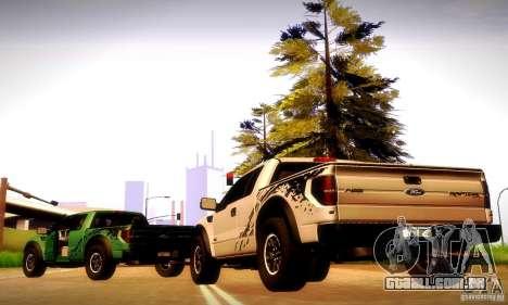 Ford F-150 SVT Raptor V1.0 para GTA San Andreas traseira esquerda vista