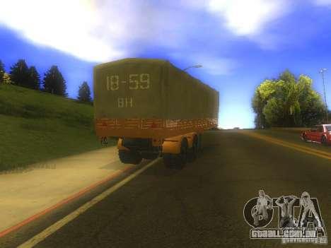 Reboque MAZ 5205 para GTA San Andreas vista direita