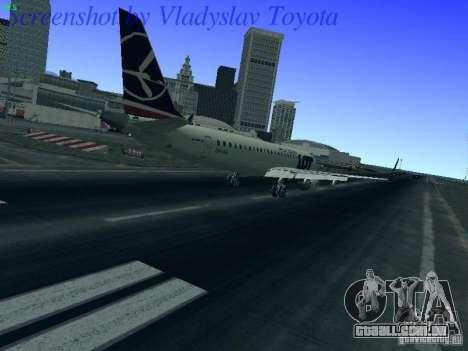 Embraer ERJ 190 LOT Polish Airlines para GTA San Andreas vista direita