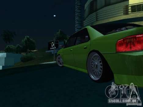 DR Sultan para GTA San Andreas traseira esquerda vista