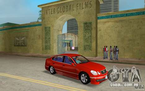 Lexus GS430 para GTA Vice City vista traseira