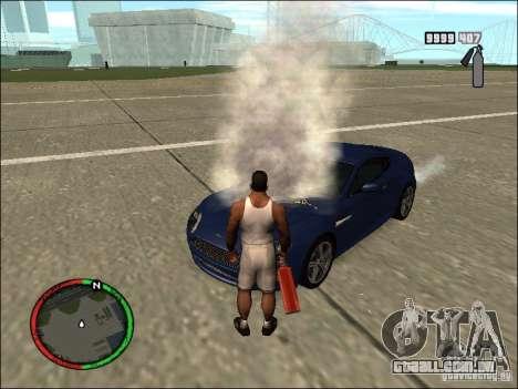 Auto extinção de um extintor de incêndio para GTA San Andreas por diante tela