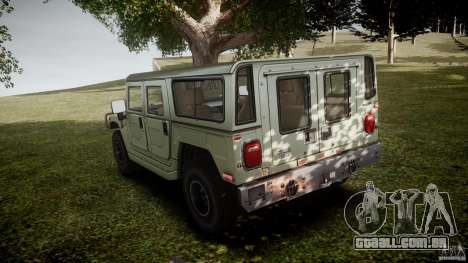 Hummer H1 Original para GTA 4 traseira esquerda vista