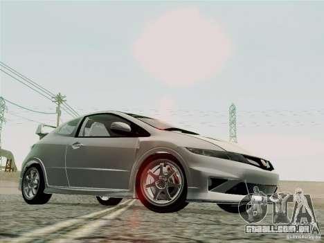 Honda Civic TypeR Mugen 2010 para GTA San Andreas vista superior