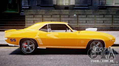 Chevrolet Camaro para GTA 4 vista inferior