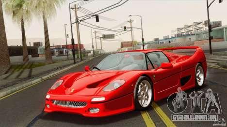 Ferrari F50 v1.0.0 Road Version para GTA San Andreas traseira esquerda vista