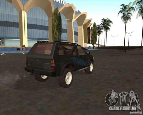Nissan Terrano para GTA San Andreas esquerda vista