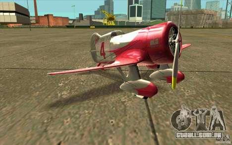 GeeBee typeZ para GTA San Andreas esquerda vista