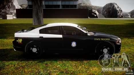 Dodge Charger 2012 Florida Highway Patrol [ELS] para GTA 4 vista de volta
