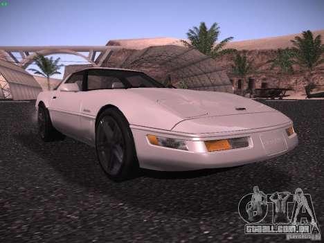 Chevrolet Corvette Grand Sport para GTA San Andreas esquerda vista