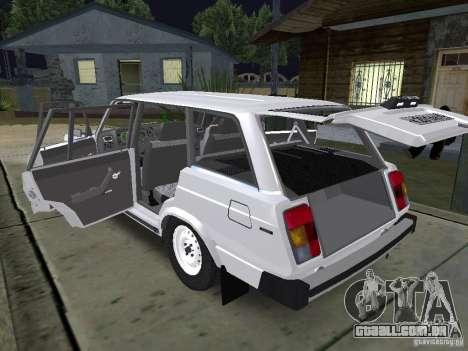 VAZ 2104 para GTA San Andreas vista interior