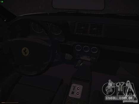 Ferrari F355 Targa para GTA San Andreas vista interior