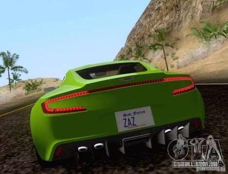 Aston Martin One-77 para GTA San Andreas esquerda vista