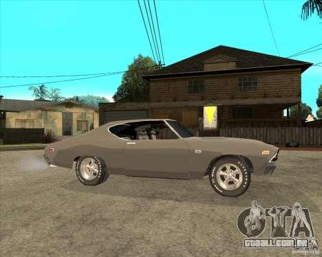 1969 Chevrolet Chevelle para GTA San Andreas vista direita