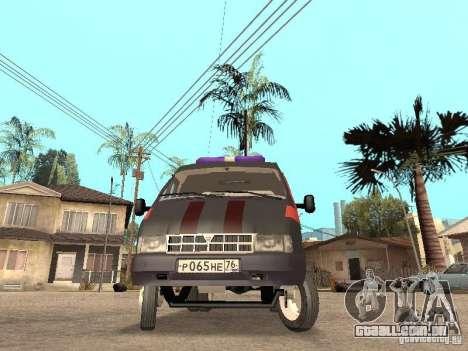Serviço de gás gazela 2705 para GTA San Andreas esquerda vista