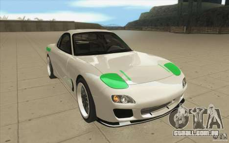 Mazda FD3S - Ebisu Style para GTA San Andreas vista traseira
