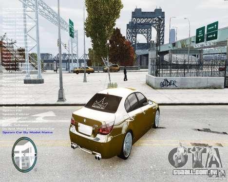 BMW M5 e60 para GTA 4 esquerda vista