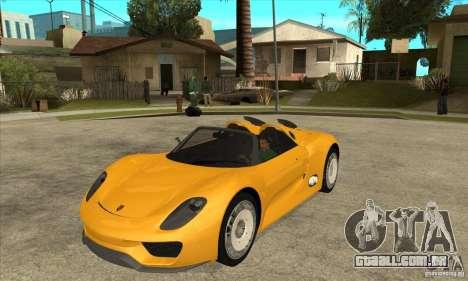 Porsche 918 Spyder para GTA San Andreas