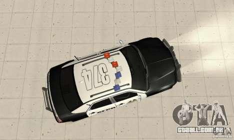 Chrysler 300C Police v2.0 para GTA San Andreas vista direita