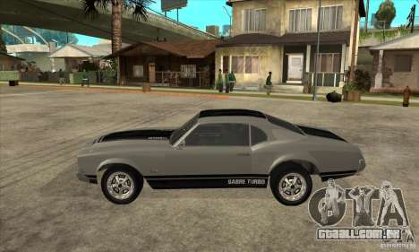 Sabre de GTA 4 para GTA San Andreas esquerda vista