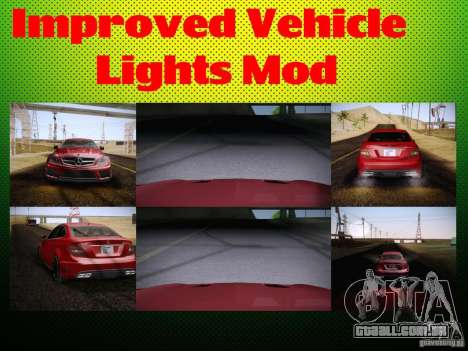 Improved Vehicle Lights Mod para GTA San Andreas