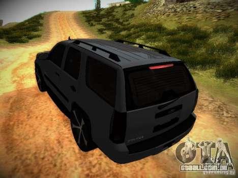 Chevrolet Tahoe HD Rimz para GTA San Andreas vista superior