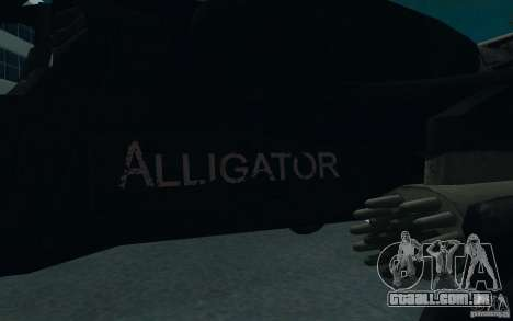 KA-52 ALLIGATOR v1.0 para GTA San Andreas vista traseira