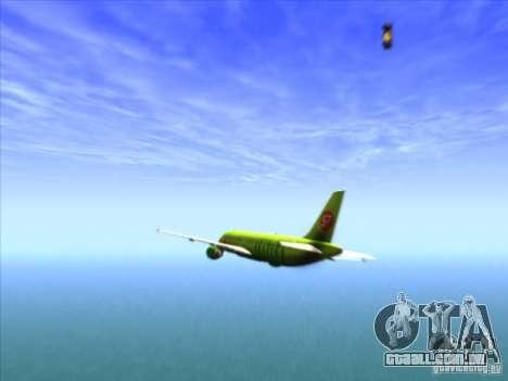 Airbus A-320 S7Airlines para vista lateral GTA San Andreas