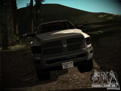 Dodge Ram 3500 4X4 para GTA San Andreas vista traseira