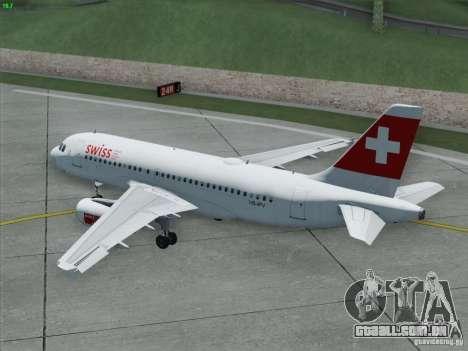 Airbus A319-112 Swiss International Air Lines para GTA San Andreas vista superior