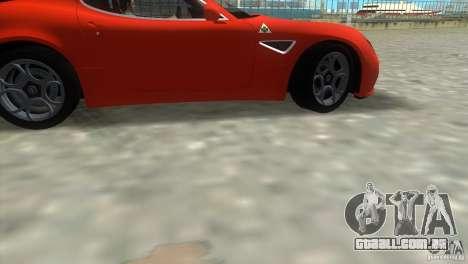 Alfa Romeo 8C Competizione para GTA Vice City vista traseira