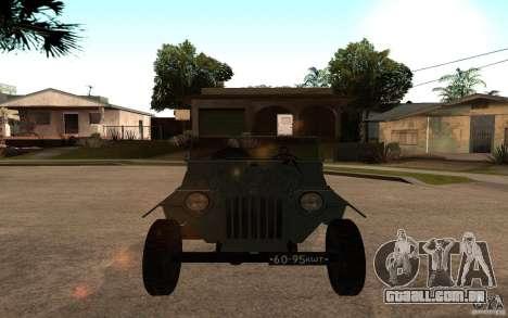 GAZ-67 b para GTA San Andreas vista direita