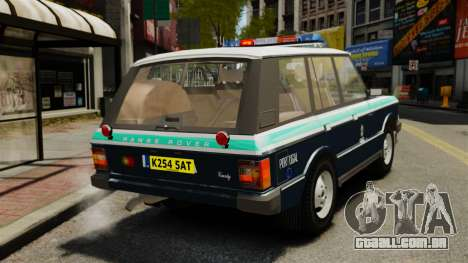 Range Rover Classic ELS para GTA 4 traseira esquerda vista