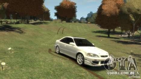 Honda Civic Si 1999 para GTA 4 vista direita