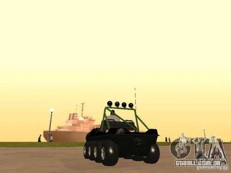 Veículo todo - terreno Argo Avenger para GTA San Andreas traseira esquerda vista