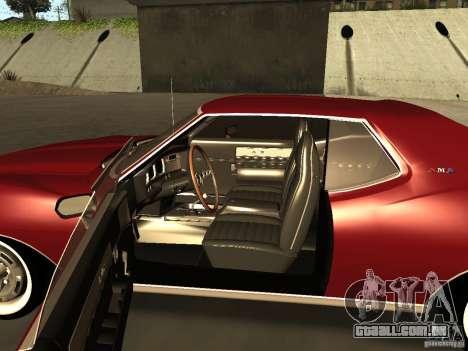 AMC AMX Stock para GTA San Andreas traseira esquerda vista