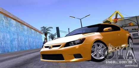 Scion Tc 2012 para GTA San Andreas vista superior