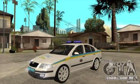 Polícia de trânsito ucraniano Skoda Octavia II para GTA San Andreas