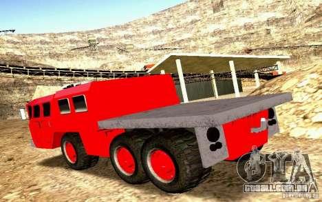 Maz-7310 Civil versão estreita para GTA San Andreas vista interior