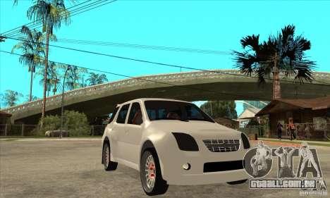 Suzuki Ignis Rally para GTA San Andreas vista traseira