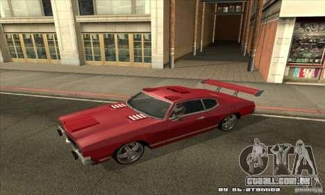 Sabre Drift para GTA San Andreas esquerda vista