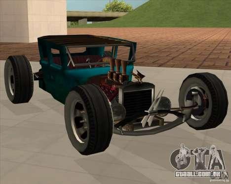 Ford model T 1925 ratrod para GTA San Andreas traseira esquerda vista