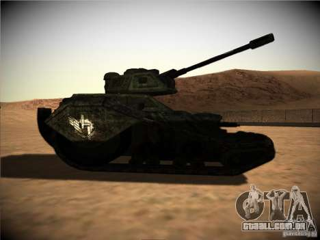 Tanque do jogo TimeShift para GTA San Andreas traseira esquerda vista