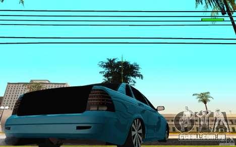 LADA 2170 Penza tuning para GTA San Andreas traseira esquerda vista