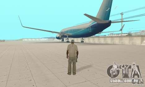 Boeing 737-800 para GTA San Andreas esquerda vista