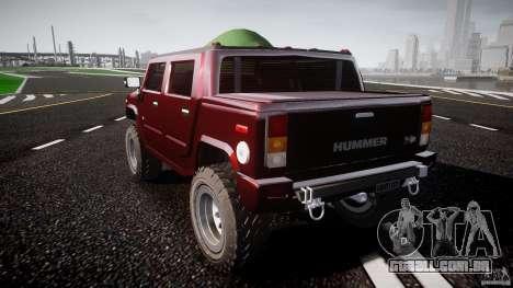 Hummer H2 4x4 OffRoad v.2.0 para GTA 4 traseira esquerda vista